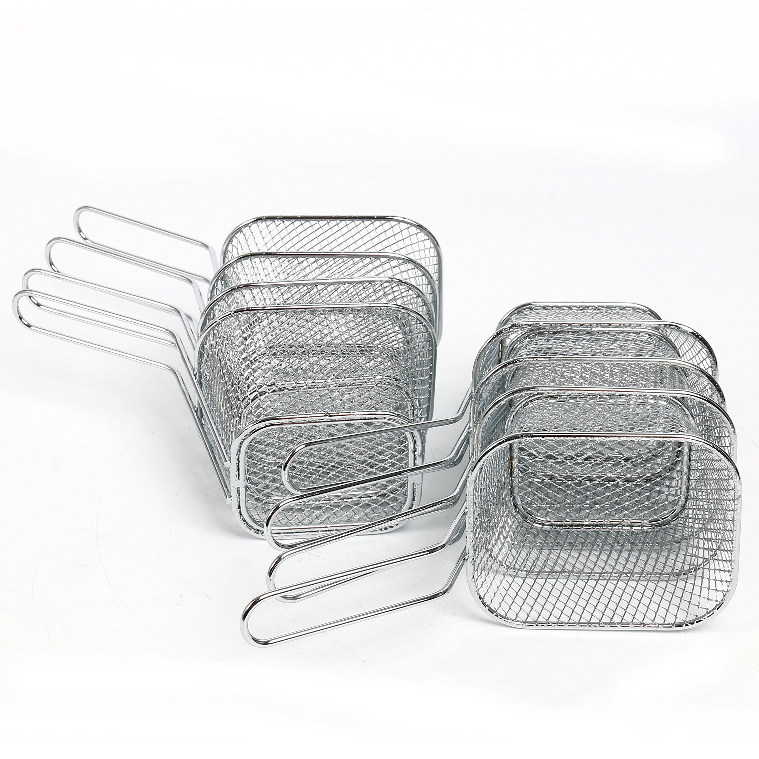 Yaekoo 8Pcs Mini Mesh Wire French Fry Chips Baskets Net Strainer Kitchen Cooking Tools by Yaekoo (Image #6)