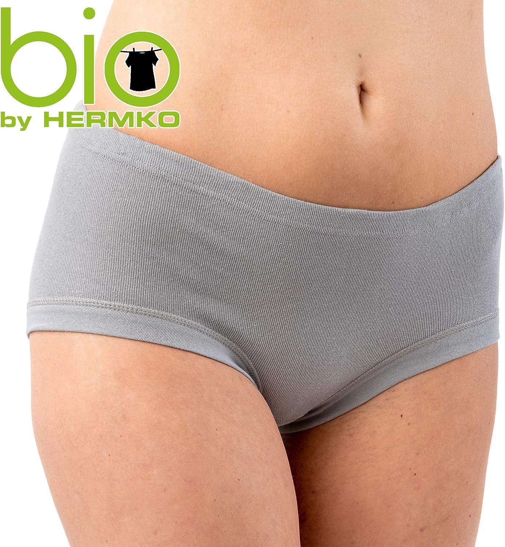 Slip da donna in cotone biologico confezione da 3 HERMKO 9114001