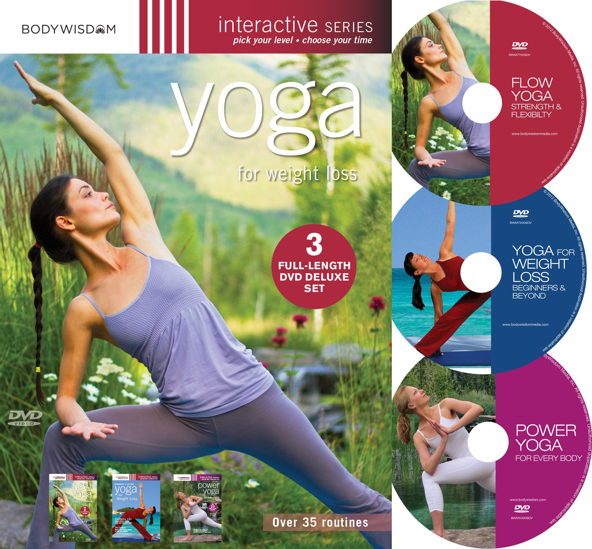 Health Shopping Yoga for Weight Loss (Deluxe 3 DVD set with over 35 routines)