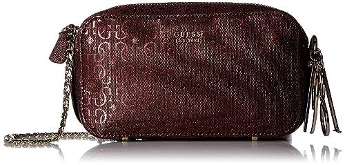 72d81390ec5b GUESS Tamra Metallic Crossbody Camera Bag
