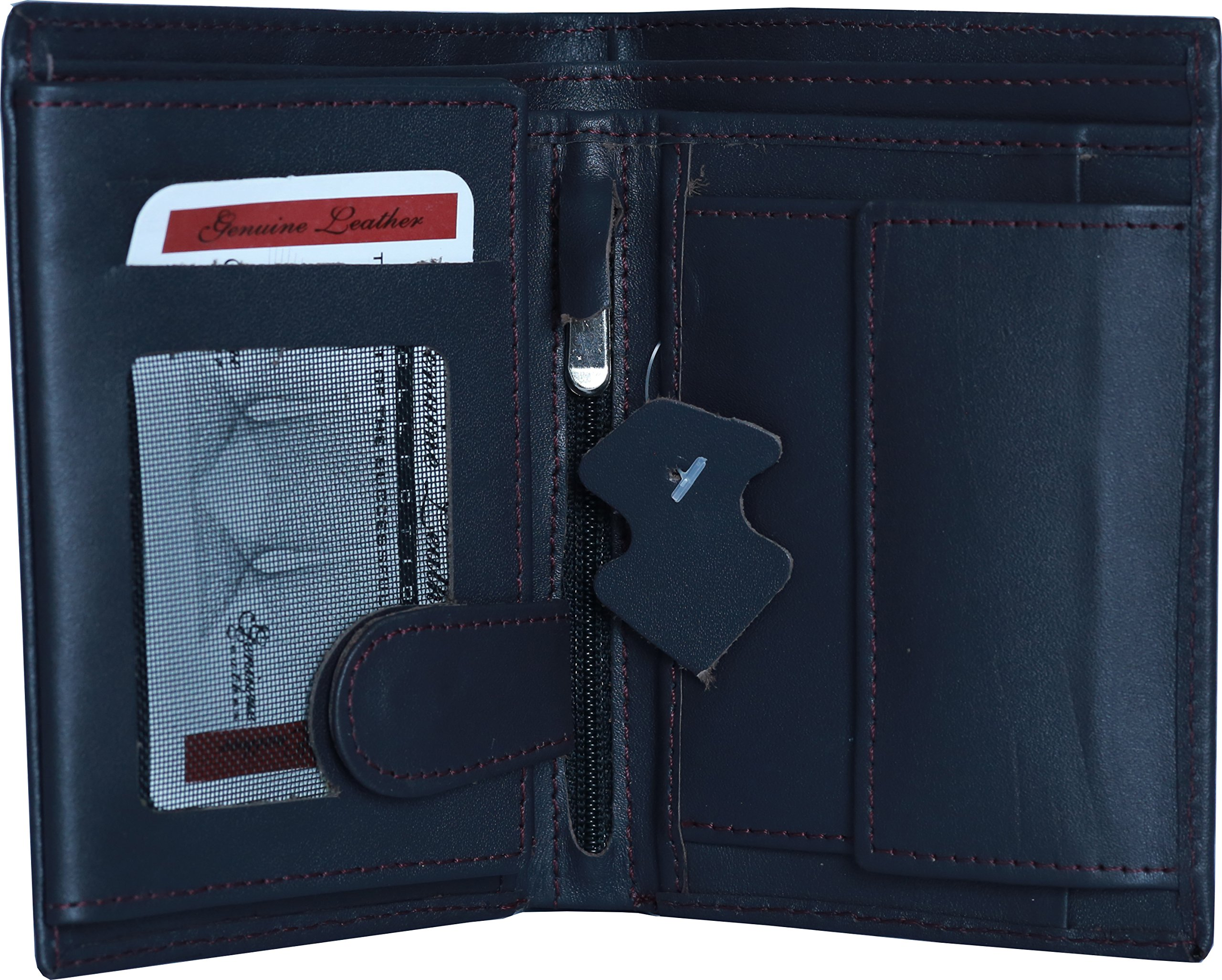 Soft And Slim Dark Brown Leather Wallet for Mens. (Mens Leather Wallet)
