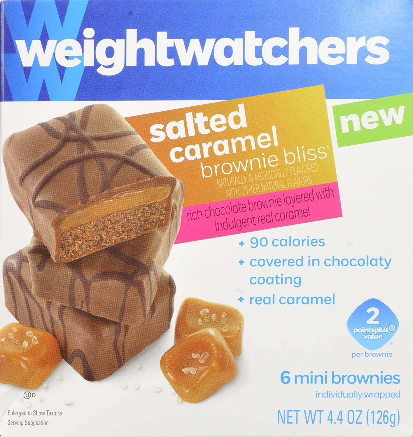 amazon com weight watchers brownie bliss mini brownies salted