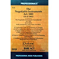 The Negotiable Instruments Act, 1881 as amended by the Negotiable Instruments (Amendment) Act 2015