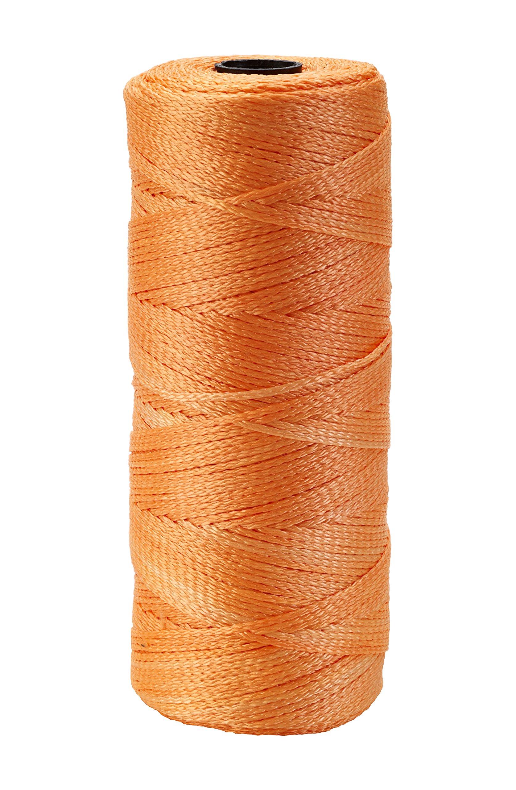 Mutual Industries 14661-145-550 Nylon Mason Twine, 1/2 lb. Twisted, 18 x 550', Glo Orange (Pack of 6)