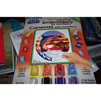 Learning Embroidery by Numbers - Dolphin: Toys & Games