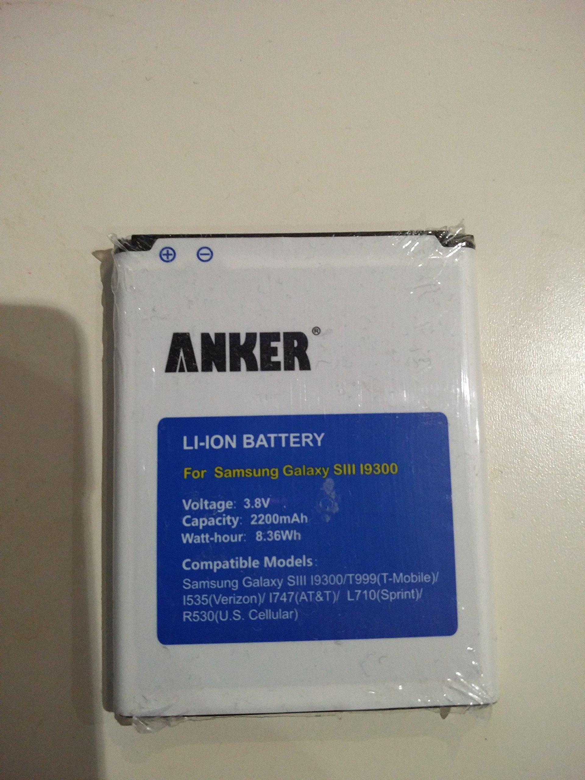Samsung galaxy battery s3 verizon - Anker 2200mah Li Ion Battery For Samsung Galaxy S3 Gt I9300 T999 T Mobile I747 At T I535 Verizon R530 U S Cellular L710 Sprint Fits Eb L1g6llu