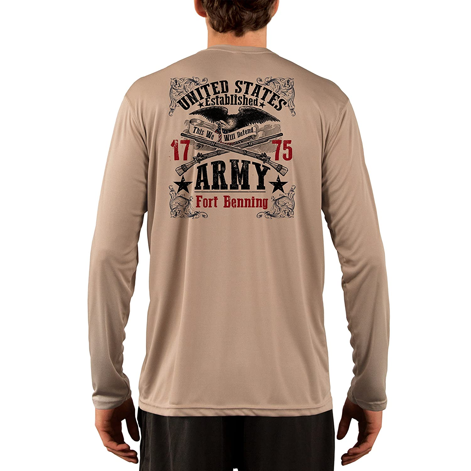 Long Sleeve T-Shirt Dead Or Alive Clothing U.S Army Fort Benning Mens UPF 50