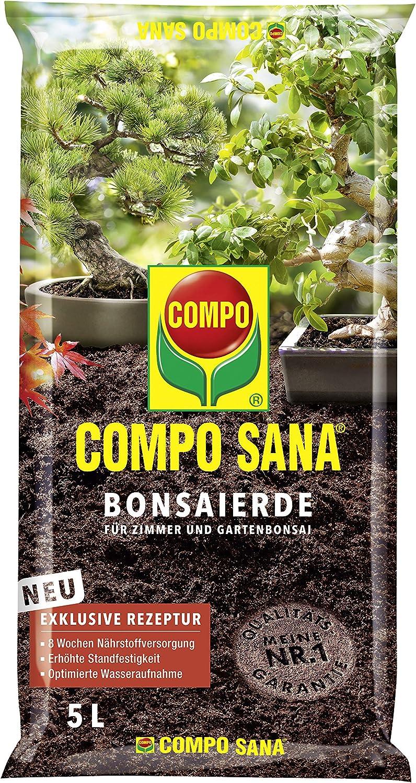 Compo Sana–® Bonsai Tierra, Tierra Especial para Todas Las Habitaciones Jardines. Bonsai, 5L