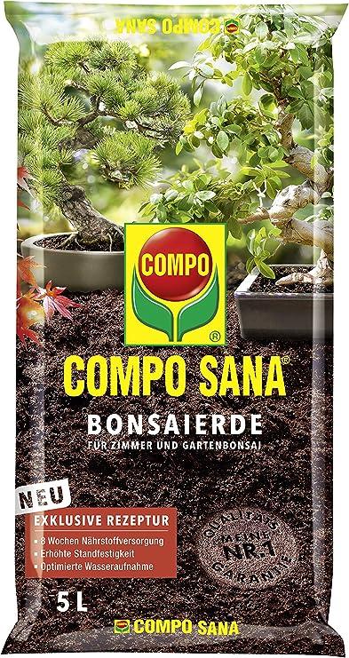 Compo Sana – ® Bonsai Tierra, Tierra Especial para Todas Las Habitaciones Jardines. Bonsai, 5 L: Amazon.es: Jardín