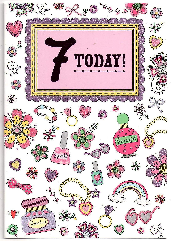 Tarjeta de cumpleaños de princesa para niñas de 7 años, en ...