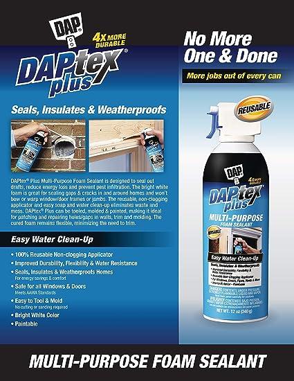 Dap Tex Plus 18836 Window and Door Foam Sealant, 12-Ounce