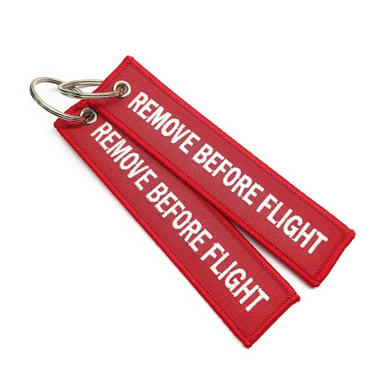 Remove Before Flight /Étiquette de bagage Haute Qualit/é aviamart/® Rouge // Blanc Trousseau