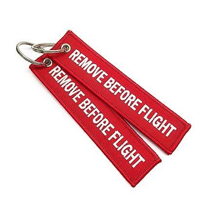 Quitar antes de llavero del vuelo | Conjunto de 2 | Etiqueta de equipaje | aviamart®