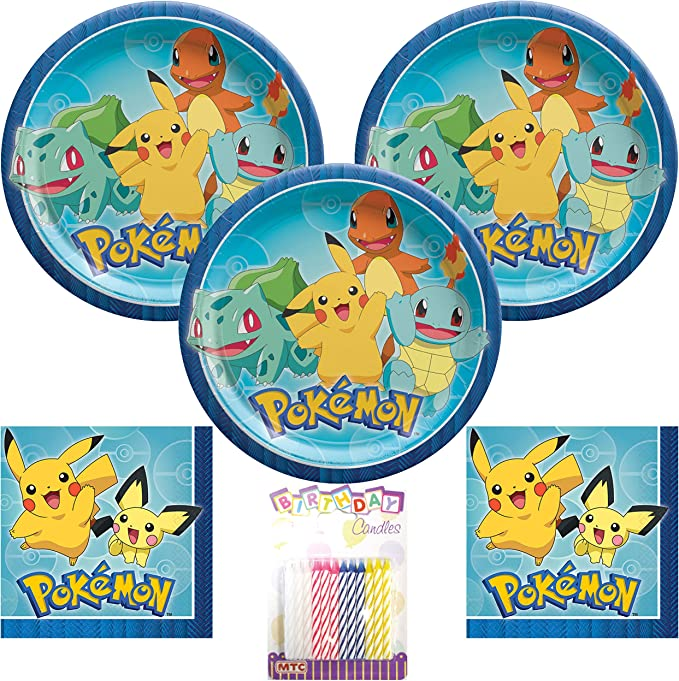 Pack of 16 Pokemon Luncheon Napkins 33cm