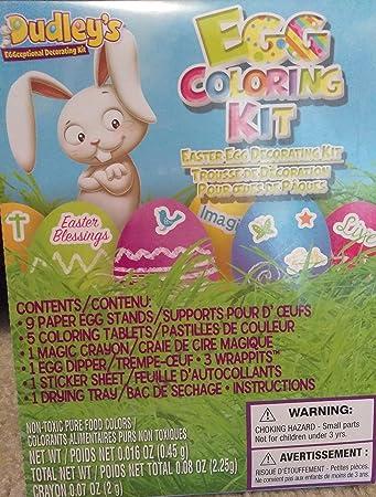 Easter egg decorating kit easter basket kids toddlers gift children easter egg decorating kit easter basket kids toddlers gift children pre made girls boys eggs kit negle Gallery