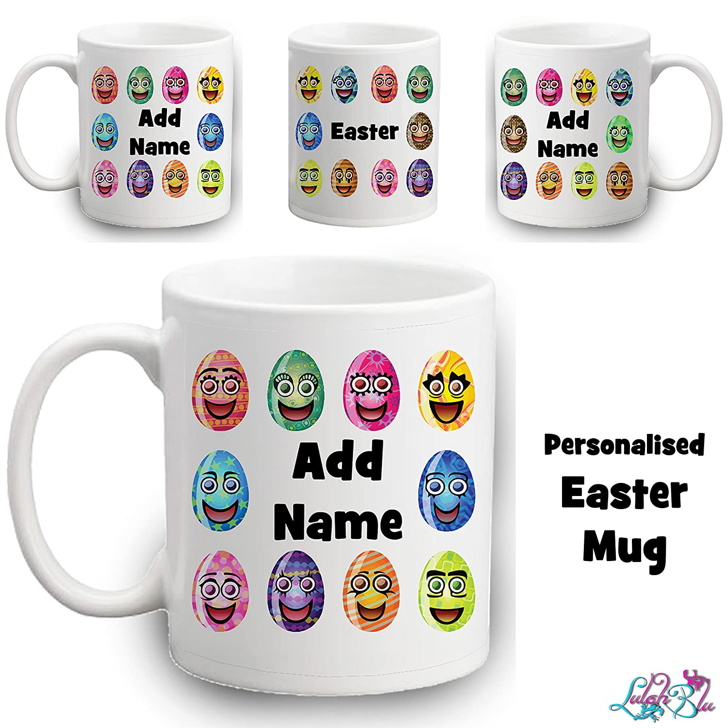 Personalised easter egg mug kids easter gifts custom childrens personalised easter egg mug kids easter gifts custom childrens cup amazon kitchen home negle Gallery