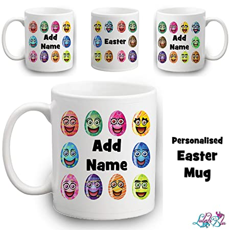 Personalised easter egg mug kids easter gifts custom childrens personalised easter egg mug kids easter gifts custom childrens cup negle Choice Image