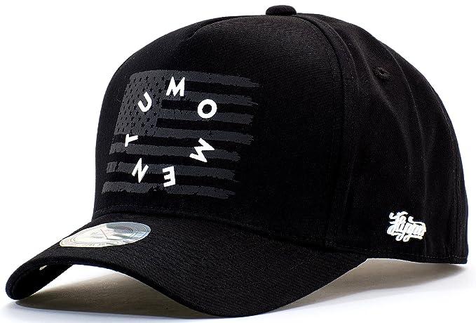 56ebbf208d82f ONTOO Baseball Cap American Flag Hat USA Snapback Patriotic Cotton  Strapback Punisher Texas Adjustable (Black
