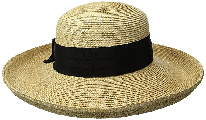 fa890923efd08 Gottex Women s Vivienne Fine Milan Straw Packable Sun Hat Rated ...