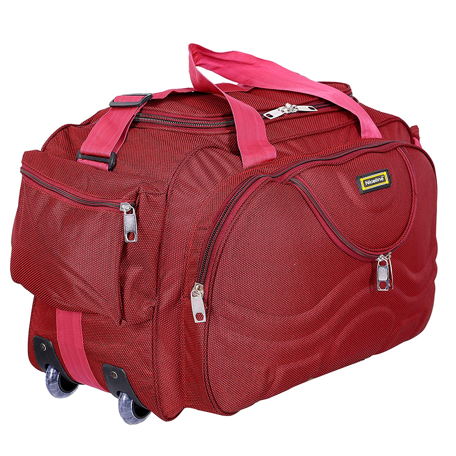 Nice Line Maroon Polyester 40 litres Inch Travel Duffle Bag Trolley Bag Cabin  Luggage  Amazon.in  Bags 0e91b6e96e628