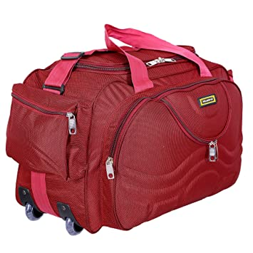 6414c4a10 Nice Line Maroon Polyester 40 litres Inch Travel Duffle Bag/Trolley  Bag/Cabin Luggage
