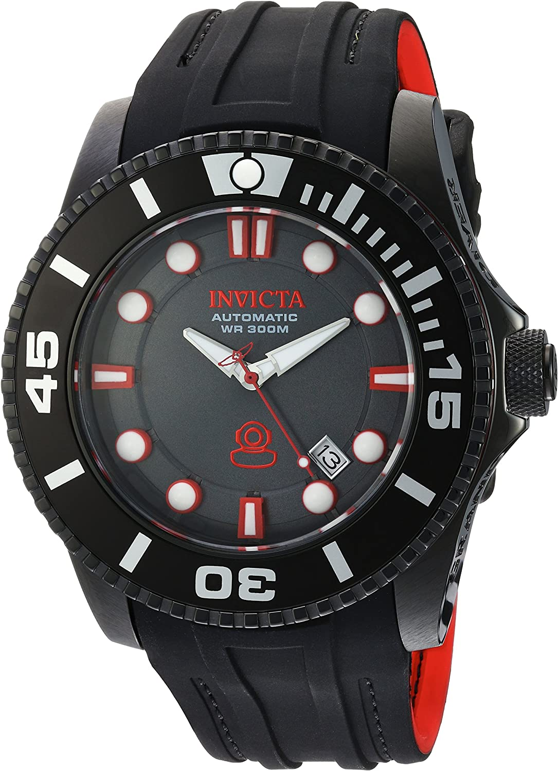 Invicta Men s Pro Diver Stainless Steel Automatic-self-Wind Diving Watch with Silicone Strap, Black, 25 Model 20205