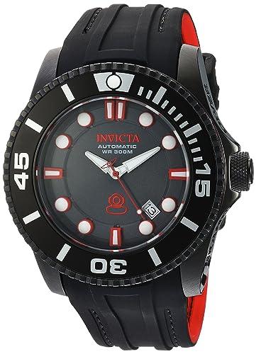 Invicta 20205 - Reloj de Pulsera Hombre, Silicona, Color Negro: Amazon.es: Relojes
