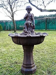 XL DELUXE ángel fuente con bomba~ángel Brunnen~fuentes de jardín~fuentes decorativas~WASSERSPIEL ángel fuente: Amazon.es: Juguetes y juegos