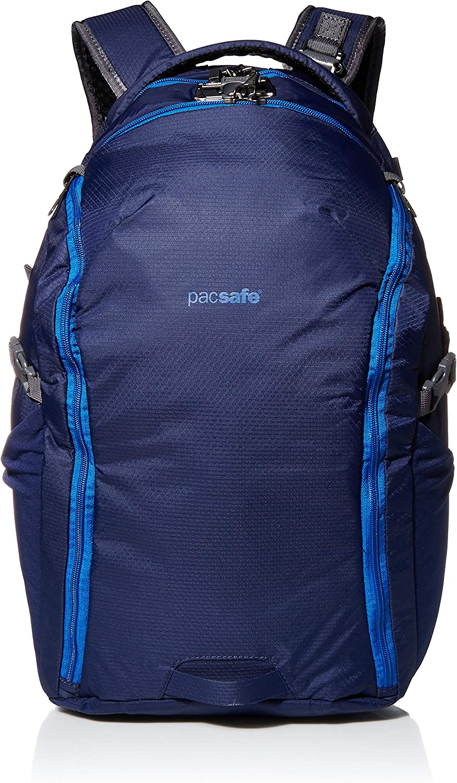 "PacSafe Venturesafe G3 32 Liter Anti Theft Travel Backpack/Daypack-Fits 17"" Laptop, Lakeside Blue"