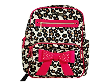 0c7ada283a5e Amazon.com   Betsey Johnson Back Pack Diaper Bag Leopard and Pink   Baby
