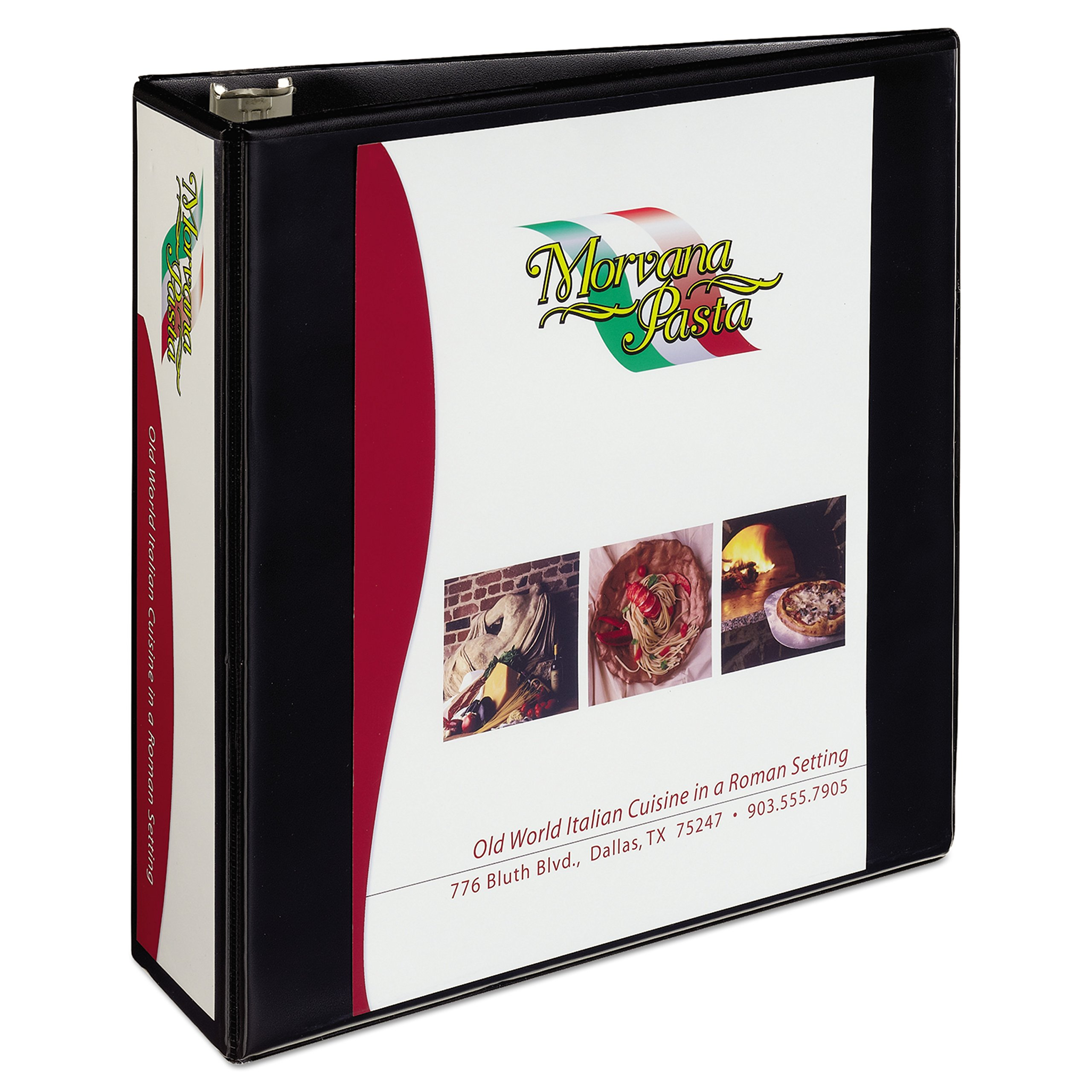 Avery Heavy-Duty View 3 Ring Binder, 3'' One Touch Slant Rings, Holds 8.5'' x 11'' Paper, 1 Black Binder (05600) by AVERY