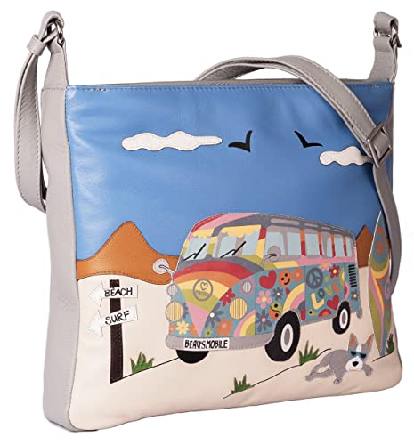 a930800946ec Premium leather Shoulder bag BEAU S BUS collection by Mala Leather BEAU  DOG  Amazon.co.uk  Shoes   Bags