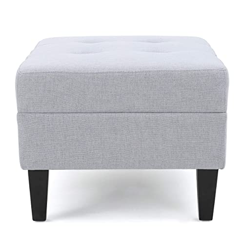 Christopher Knight Home Living Bridger Mid-Century Light Grey Ottoman