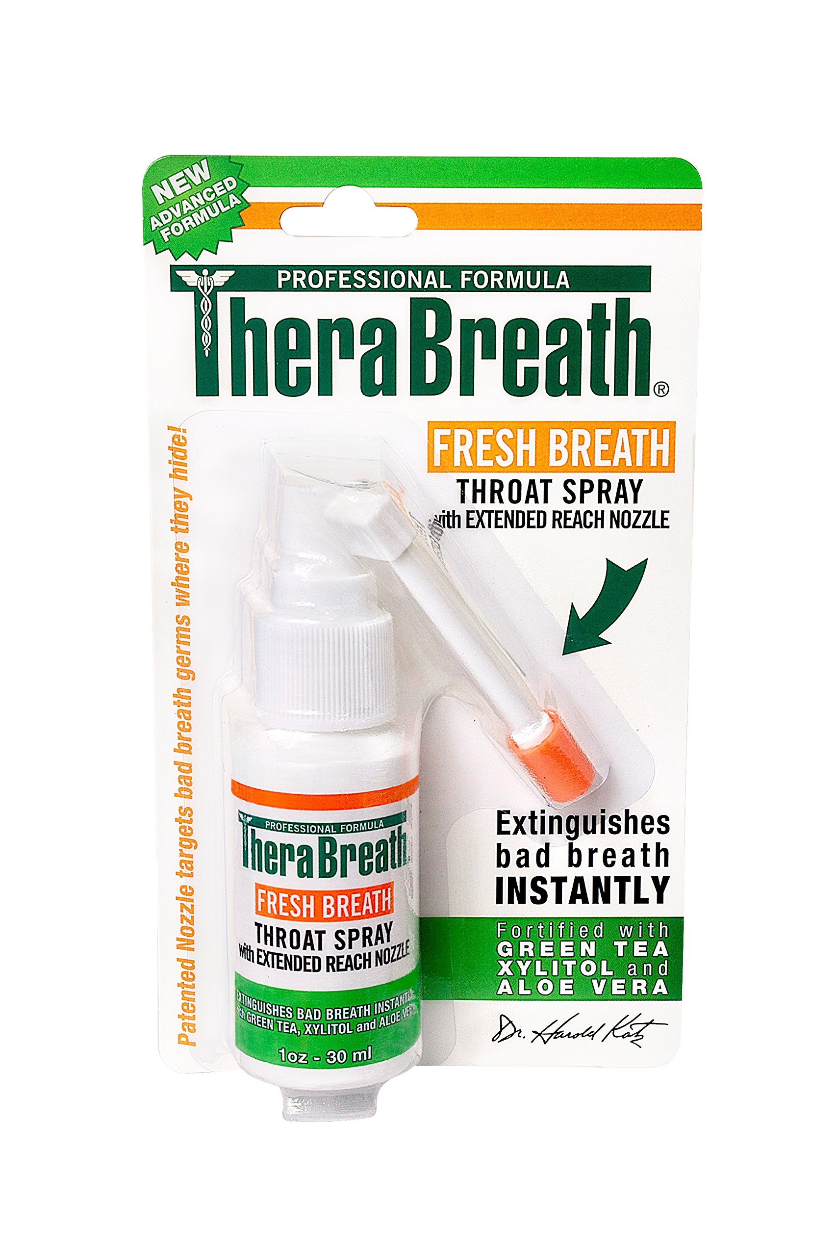 TheraBreath Dentist Formulated Fresh Breath Spray for On the Go, 1 Ounce