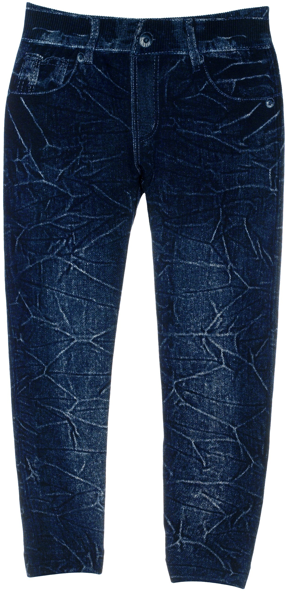 Crush Toddler Girls Jeggings with Realistic Look and Feel in Black & Dark Blue (2T-4T, Dark Blue)