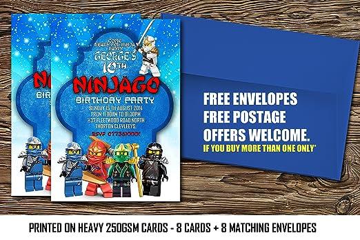 LEGO Ninjago personalizado invitaciones para fiesta de ...