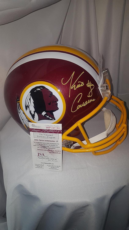 e10fe34c804 Amazon.com  Kirk Cousins Signed Replica Helmet   JSA COA  Sports  Collectibles