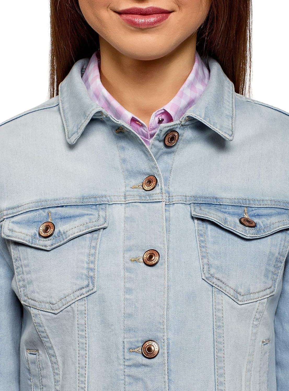oodji Ultra Donna Giacca in Jeans Basic