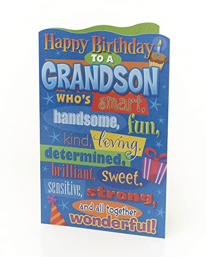 Amazon happy birthday grandson birthday greetings card happy birthday grandson birthday greetings card m4hsunfo