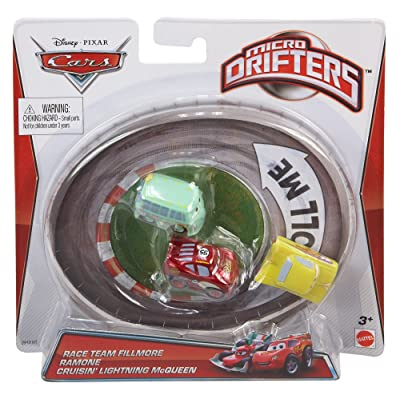 Disney Pixar Cars Micro Drifters Race Team Fillmore, Ramone and Cruisin' Lightning McQueen, 3-Pack: Toys & Games