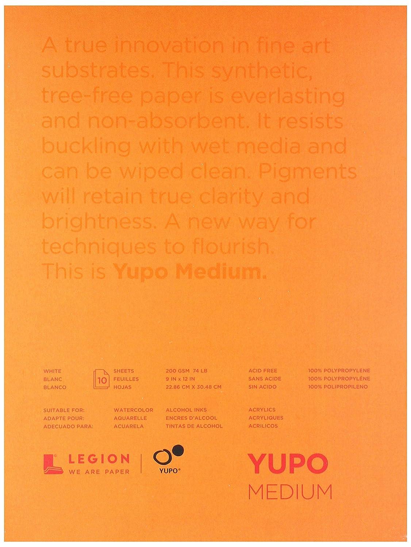Yupo Paper L21-YUP197W912 White Sheets (10 Pack), 9 x 12 9 x 12
