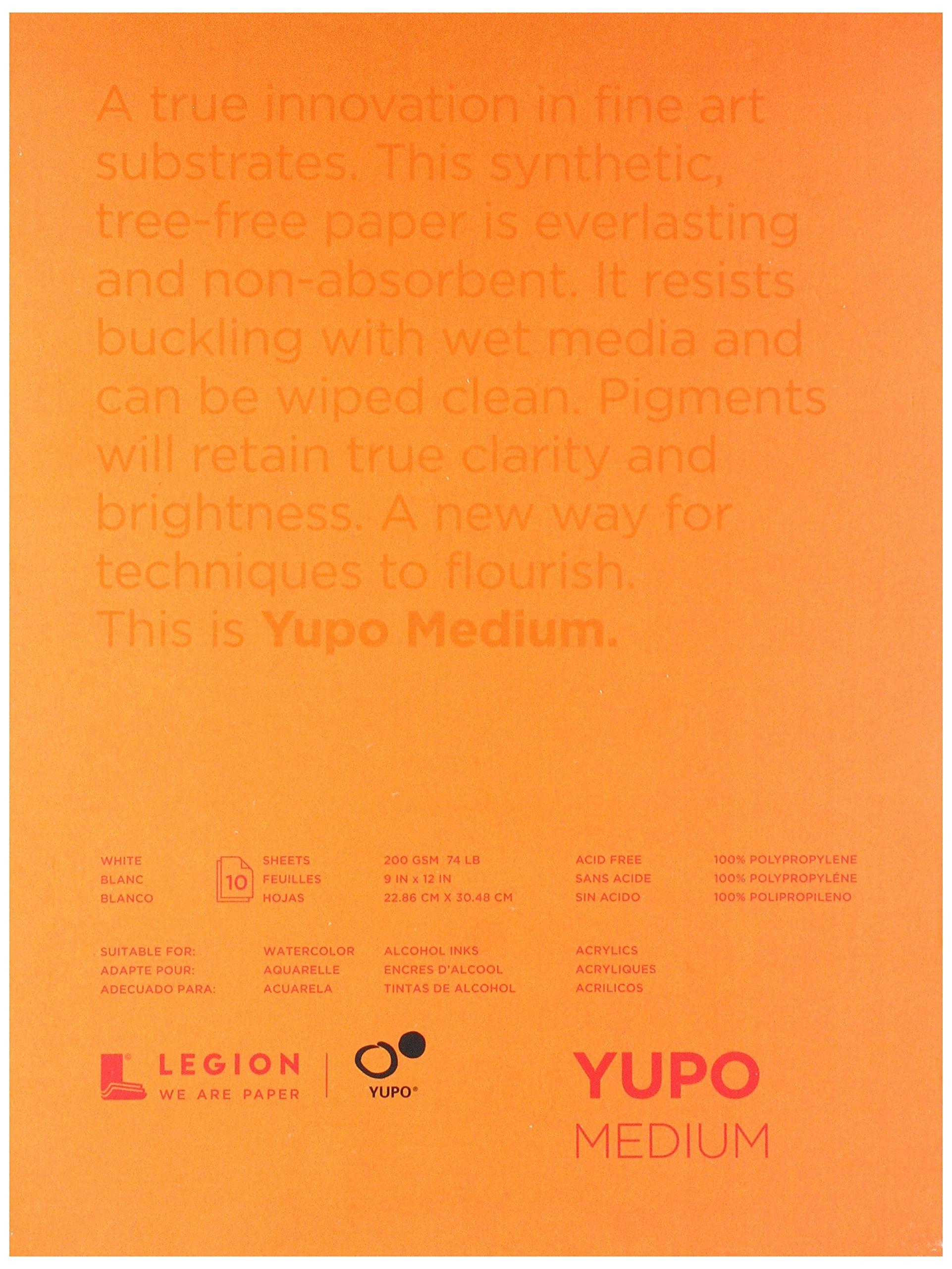 Yupo Paper L21-YUP197W912 White Sheets (10 Pack), 9'' x 12'' by Yupo Paper