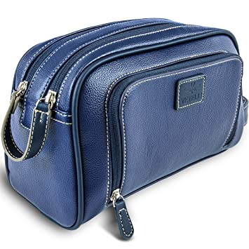 84ddfedb7e Image Unavailable. Image not available for. Color  Vetelli Gio Leather  Toiletry Bag ...