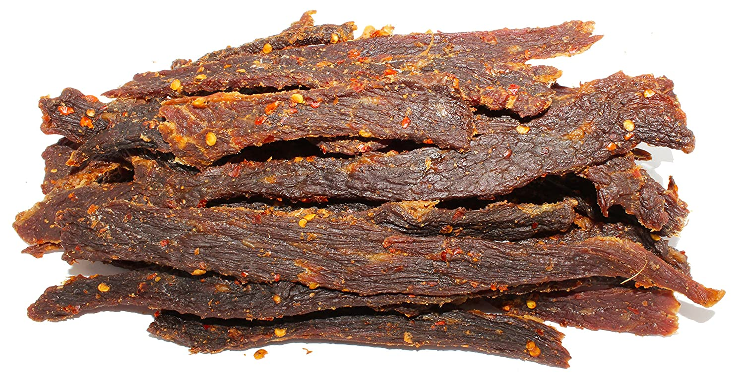 People's Choice Beef Jerky - Old Fashioned - Hot & Spicy - Sugar-Free,  Carb-Free,
