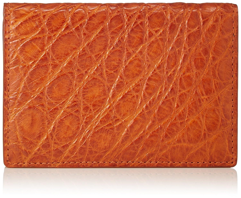 [セパージュ] 名刺入れ ワニ革 カードケース 二つ折りタイプ 紳士用 日本製 CPAA004NT B01L6QFOTI オレンジ オレンジ