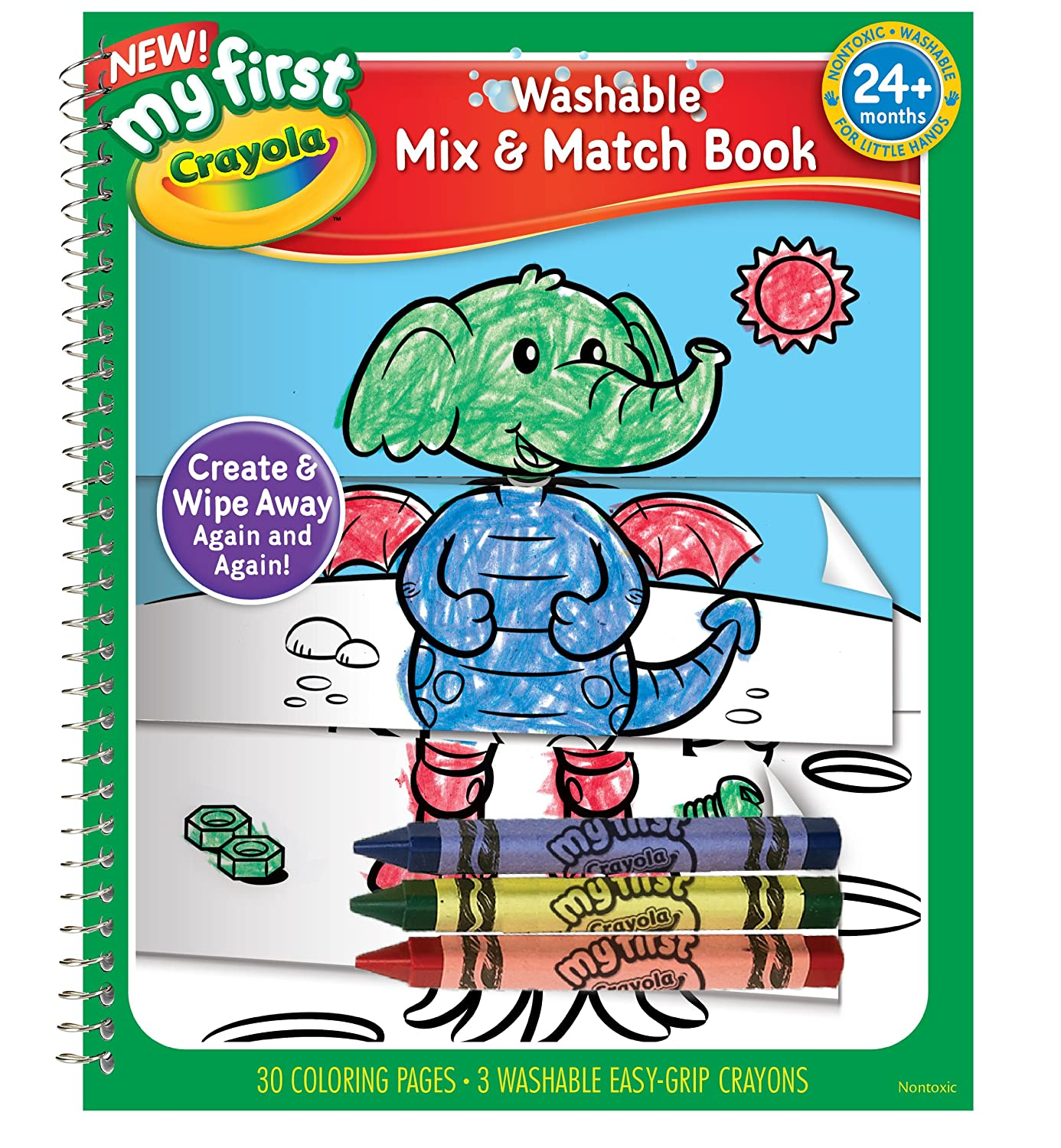 Amazon.com: Crayola My First Crayola Mix and Match Coloring Book ...