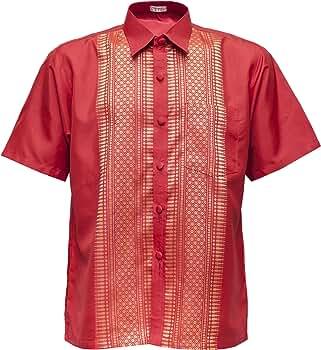 Camisa de manga corta Señor – Camisa para hombre rojo rojo medium: Amazon.es: Ropa y accesorios