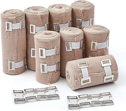 Amazon Com Premium Elastic Bandage Wrap Compression Roll Set Of