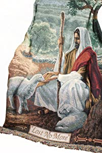 Manual Inspirational Collection 50 x 60-Inch Tapestry Throw, Lost No More