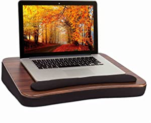 Sofia + Sam All Purpose Lap Desk (Wood top) - Supports Laptops Up To 17 Inches